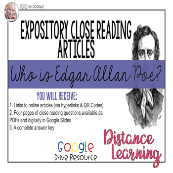 Expository Article - Poe's Life - Who is Edgar A. Poe? {Go