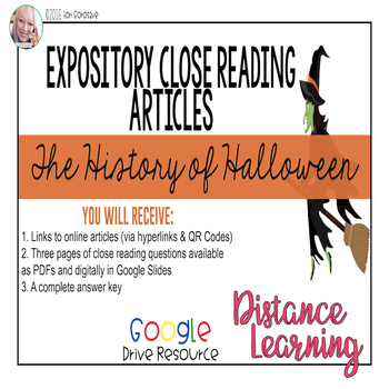 Expository Article - The History of Halloween {Google Digital Resource}