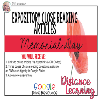Expository Article - The History of Memorial Day {Google Digital Resource}