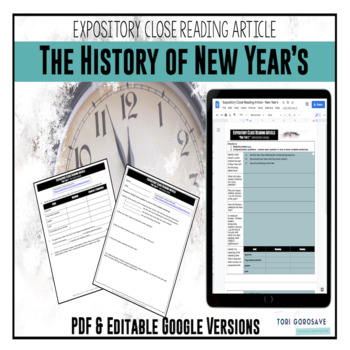 Expository Article - The History of New Year's {Google Digital Resource}