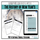 Expository Article - The History of New Year's {Google Resource}