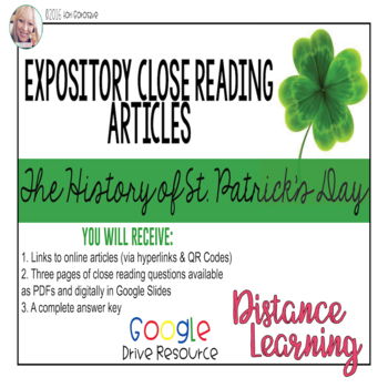 Expository Article - The History of St. Patrick's Day {Google Digital Resource}