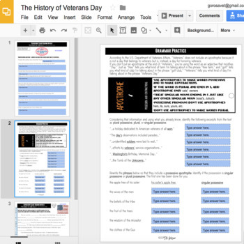 Expository Article - The History of Veterans Day {Google Digital Resource}