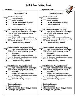 Expository Checklist