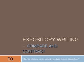 Expository - Compare and Contrast