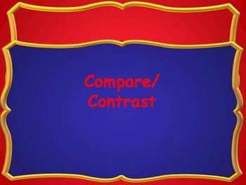 Expository Writing COMPARE and CONTRAST PowerPoint and Chart for ISN