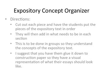 Expository Concept Organizer