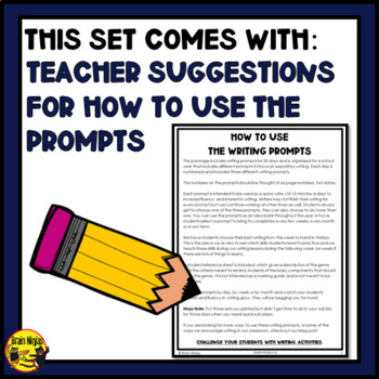 Daily Expository Writing Prompts - All 3 Sets