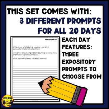 Daily Expository Writing Prompts - Set 2
