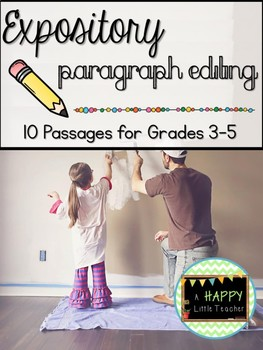 Expository Paragraph Editing: 10 Passages for Grades 3-5