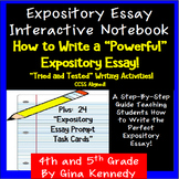 Expository Essay Interactive Notebook, Organizers, Prompts