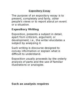 exposition essay