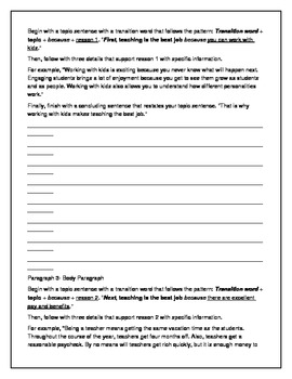 Expository Essay (5 paragraphs) Planning Sheet