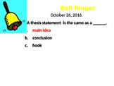 Expository Essay Bellringers