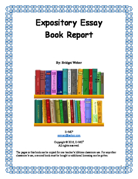 Expository Essay: Book Report