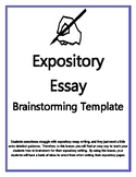 Expository Essay Brainstorming Graphic Organizer