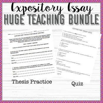 Expository Essay Bundle