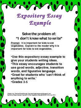 Essay samples for kids