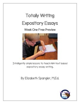 Expository Essay FREE preview of Unit Plan ~ Week One