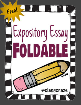 Expository Essay Writing Foldable