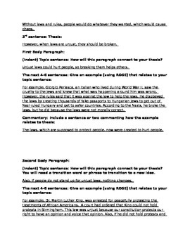 Expository Essay Format