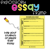 Expository Essay Frame for Organizing Drafts