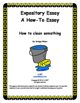 Expository Essay: How to Clean (Something)