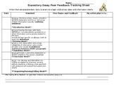 Expository Essay Peer Feedback Form