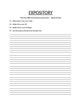Expository Essay Prompt and Guideline