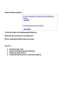 Expository Essay Prompts STAAR EOC