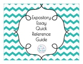 Expository Essay Quick Reference Guide to organization
