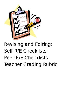 Revising and Editing Checklists for Expository Writing