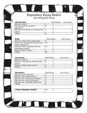Five Paragraph Expository Essay Rubric