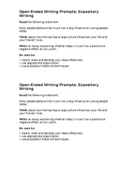 Expository Essay Staar Todays Music By Erika Victory  Tpt Expository Essay Staar Todays Music Health Issues Essay also How To Start A Proposal Essay  Spm English Essay