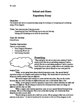 Expository Essay: Venn Diagram on Home and School