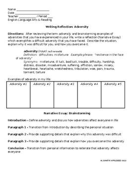 Adversity essays