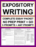 Expository Essay Writing: Complete No Prep Packet: 12-Day Unit