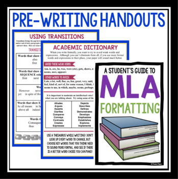 ESSAY WRITING HANDOUTS & GRAPHIC ORGANIZERS