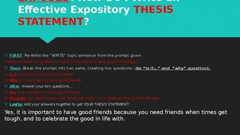 Expository Essay Writing Roll Out PowerPoint
