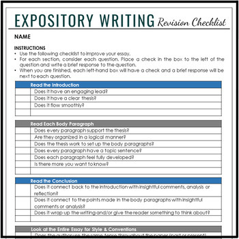 Expository Writing Essay Unit With COMPLETE Lesson Plans & Student Writing