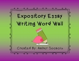 Expository Essay Writing Word Wall Posters