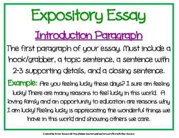 Expository essay projects