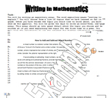 Expository Essay - Writing in Math