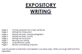 Expository Essay - from brainstorming to final draft