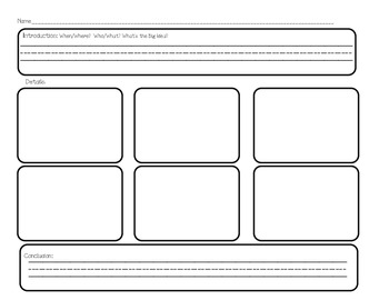 Expository Graphic Organizer - Reading Comprehension