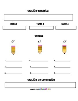 Expository Graphic Organizer for the Bilingual Classroom
