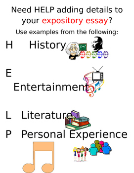 Expository Help Poster