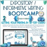 Expository & Information Writing Bootcamp | Entire Unit |