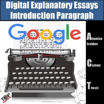 Expository Informational Writing Introduction Paragraph Google Digital