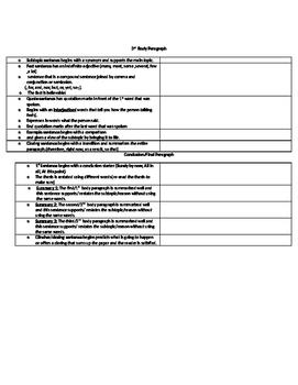 Expository/Informative Essay Checklist
